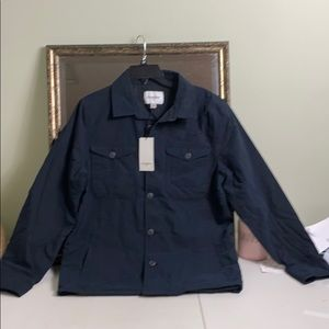 NWT Goodfellow & Co black lined button up jacket S
